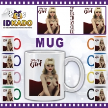 Mug (Tasse) Pin up Girl + PRENOM