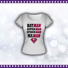 Tee-shirt Femme Maman Superman - version 2