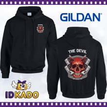 Sweat shirt à Capuche MOTARD THE DEVIL