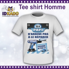 Tee-shirt Homme Si papa n'arrive pas - version 1